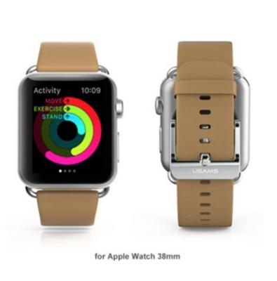 USAMS lederen Apple watch bandje 38mm - bruin