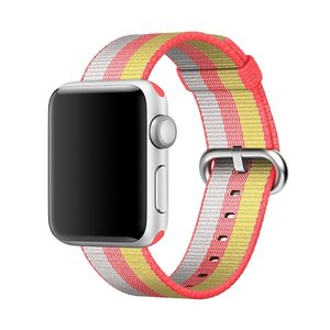 Nylon Apple watch 42mm bandje - rood / geel